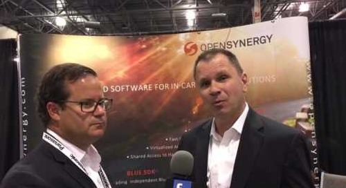 Opensynergy booth interview at TU Automotive Detroit 2016