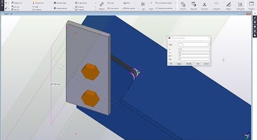 Add Material Back to Cuts in Tekla Structures