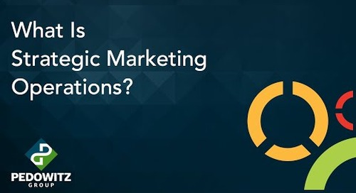 What Is Strategic Marketing Operations?