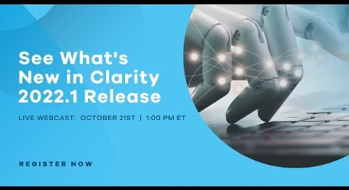 What's New in Clarity 2022.1 Release
