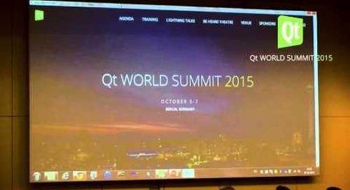 QtWS15- QtWebEngine – Taming the beast, Kai Köhne, The Qt Company