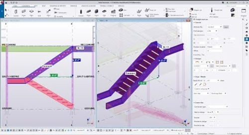 Straight Staircase in Tekla Structures