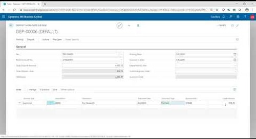 Deposits & Cash Receipts in Dynamics 365 Business Central | Western Computer