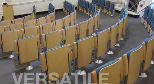 Compact Auditorium Lecture Hall Seating Folding Chairs