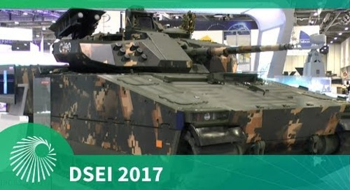 DSEI 2017: The CV90 infantry fighting vehicle from BAE Systems