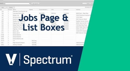 Spectrum Jobs Page and List Box