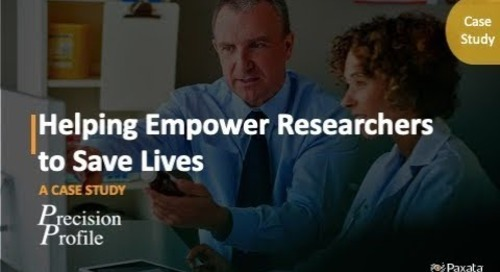 Case Study: Helping Empower Researchers to Save Lives (Paxata & PrecisionProfile)