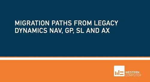 What are the Migration Paths for Legacy Dynamics ERP or QuickBooks   Western Computer