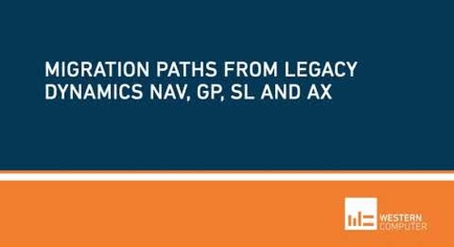 What are the Migration Paths for Legacy Dynamics ERP or QuickBooks | Western Computer