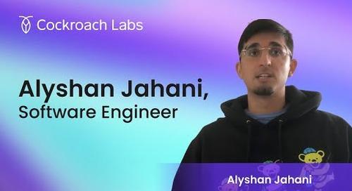 Roacher of the Week: Alyshan Jahani, Software Engineer