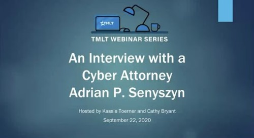 An interview with cyber attorney, Adrian Senyszyn