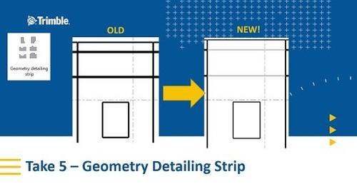 Geometry Detailing Strip for Precast Reveals