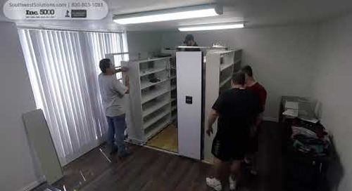 Watch Assembly of Powered High-Density Storage Shelving