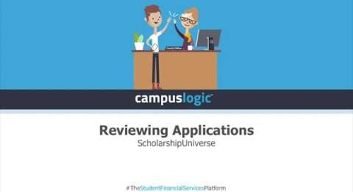 ScholarshipUniverse  | Reviewing Applications