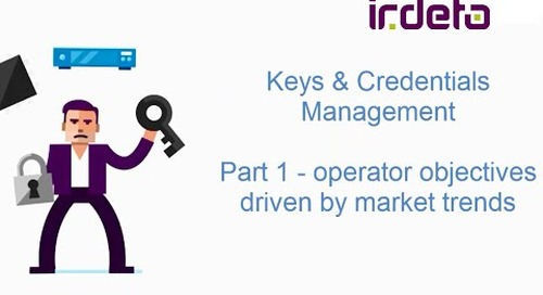 Keys and credentials management – the business benefits for operators