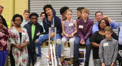 "FIRST Robotics Team, ""The ThunderBotz,"" open house"