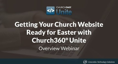 Getting Your Church Website Ready for Easter with Church360° Unite