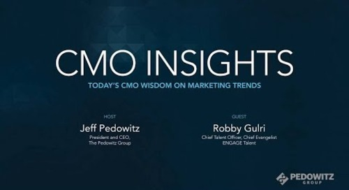 CMO Insights: Robby Gulri, Chief Talent Officer at ENGAGE Talent