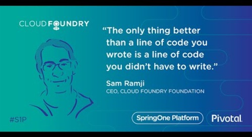 Zen and the Art of Platform — Sam Ramji, Cloud Foundry