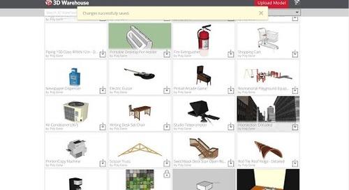 3D Warehouse: My Warehouse