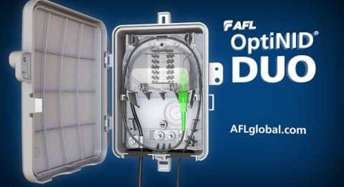 AFL's OptiNID® Duo ultra-compact fiber demarcation enclosure