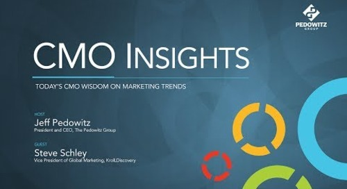 CMO Insights: Steve Schley, Vice President of Global Marketing, Kroll
