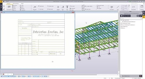 DWG to Tekla template with Tekla Structures