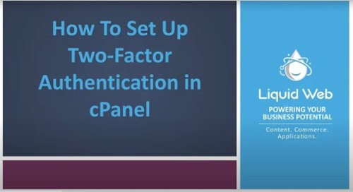 How to Set Up Two-Factor Authentication in cPanel