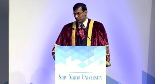 Dr. Raghuram Rajan's address at Shiv Nadar University Convocation, May 7, 2016 (Part 1)