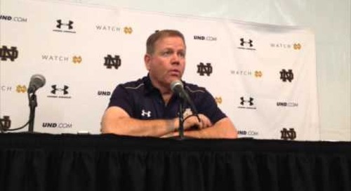 Brian Kelly Post-USC Press Conference