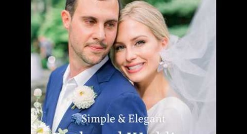 Simple & Elegant Backyard Wedding | Macy & Greg