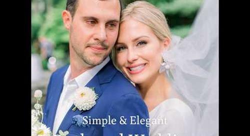 Simple & Elegant Backyard Wedding   Macy & Greg