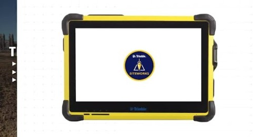 Trimble Siteworks Positioning System for Construction Supervisors