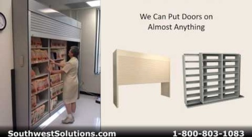 Roll Down Shelving Doors to Secure Storage of Files Supplies Inventory Parts