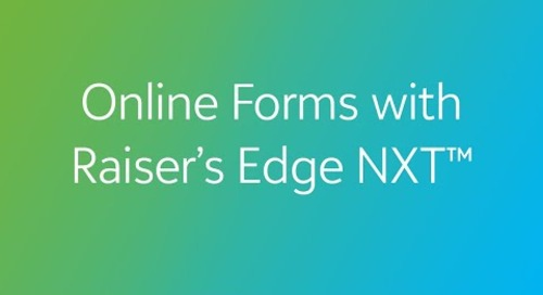 COVID-19: Online Forms with Raiser's Edge NXT