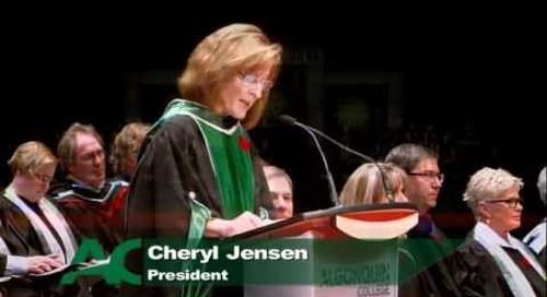 Fall Convocation 2014 - Cheryl Jensen