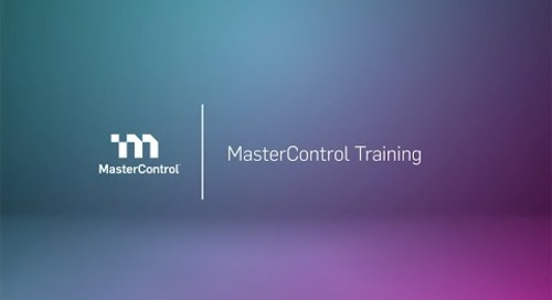 Demo: MasterControl Training Management Software