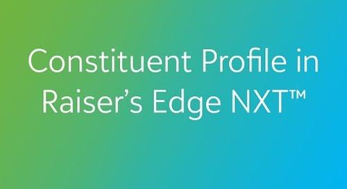 Raiser's Edge NXT - Constituent Profile