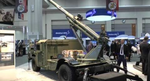 AUSA 2016: Hawkeye 105mm mobile artillery system