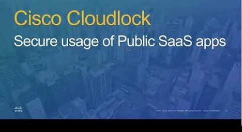 Cisco Cloudlock Webinar - 2018