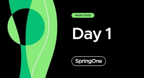 SpringOne 2021 - Day 1 Afternoon Full Keynote