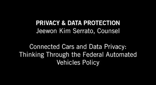 Jeewon Serrato: Thinking Through the Federal Automated Vehicles Policy