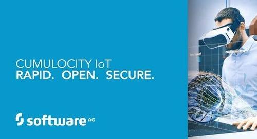 CUMULOCITY IoT:  Rapid.  Open.  Secure.