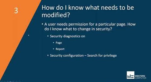 5 Things to Know About Implementing Security | Dynamics 365 Finance & SCM | Western Computer