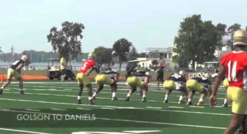 Notre Dame Football Practice Highlights (4/4/14)