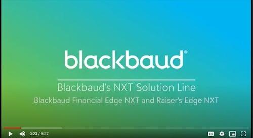Blackbaud's NXT Solution Line (Blackbaud Financial Edge NXT and Raiser's Edge NXT)
