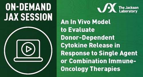 An In Vivo Model to Evaluate Donor-Dependent Cytokine Release