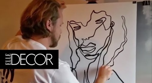This Instagram Artist Creates Amazing Work from a Single Line | ELLE Décor