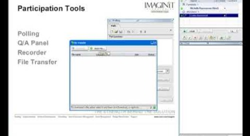 The Tools for IMAGINiT Web Training