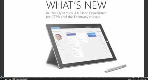 Microsoft Dynamics AX7 - The  New Lookup Experiences